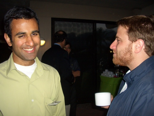 Sumir Meghani and Stewart Butterfield